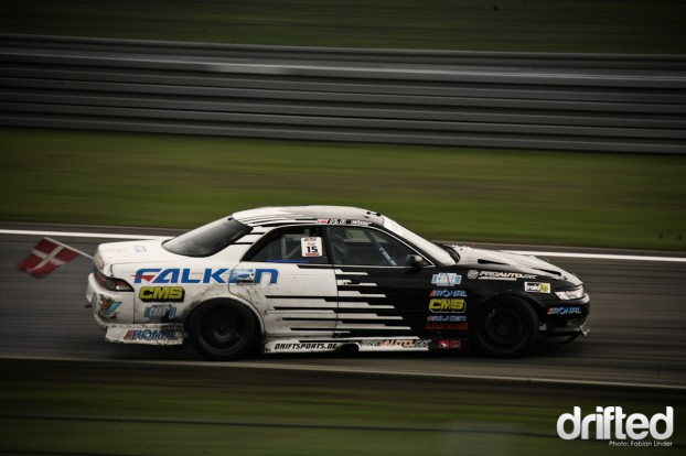 The next danish driver: Niels Becker, member of Team Falken Denmark in his Chaser