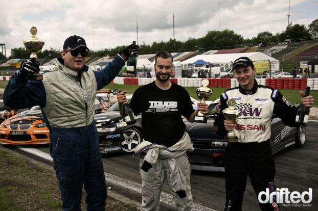 1. place: Tobias Welti - Speed Industries (middle). 2. place: Niels Becker - Falken, 3.place Michael Scherr - Nissan; Congratulations!
