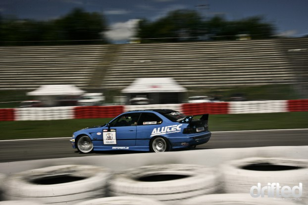 The master of all streets: Ronny Thimmig in his V8 powered E36