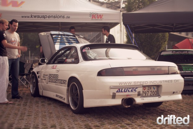 Speedindustries Rider Alain Thomet presented his new car