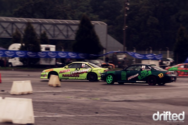 Carola Mecan pushed her S14 hard to win against Phil, but she didn´t suceed