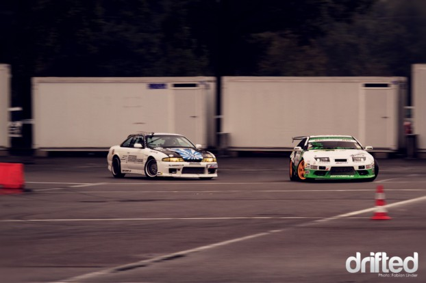 the final: Alain Thomet chases the 300ZX of Michael Scherr