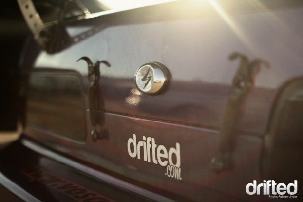 Thanks to our media partnership with the IDS, there where drifted.com stickers on every car