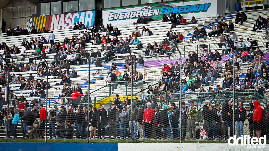 Evergreen Speedway crowd nissan fest