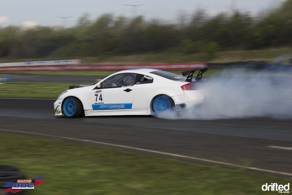 Mark Needs in his Supercharged G35 ay BDC Teesside 2012
