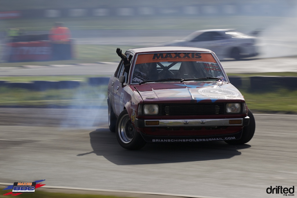 Marc Huxley in his KE70 corolla at BDC Teesside