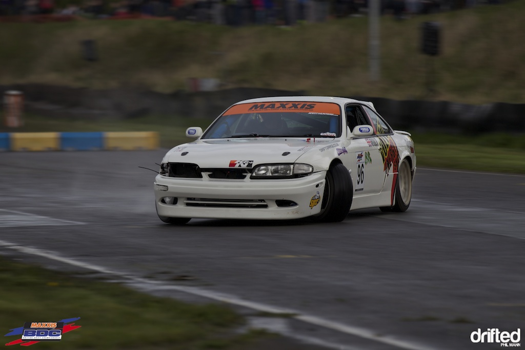 Sam Holt in the nitrous powered S14 at BDC Teesside