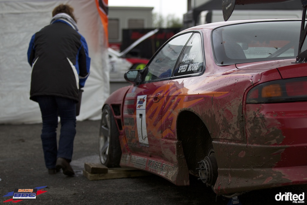 A muddy Steve Moore at BDC Teesside