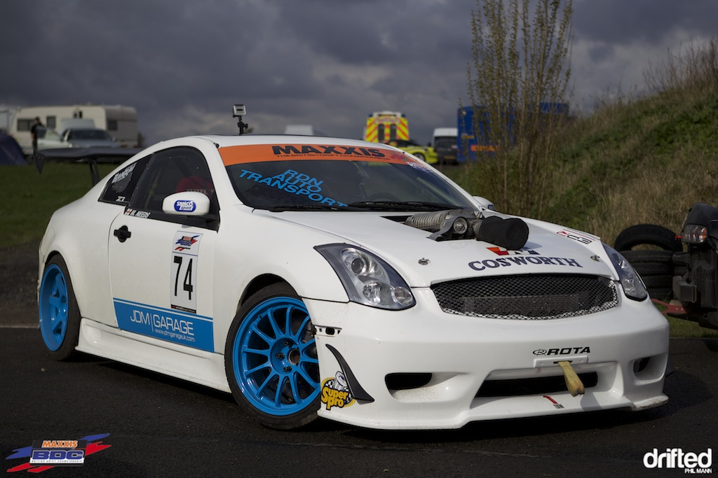Ex Formula Drift Supercharged G35 at  BDC Teesside 2012