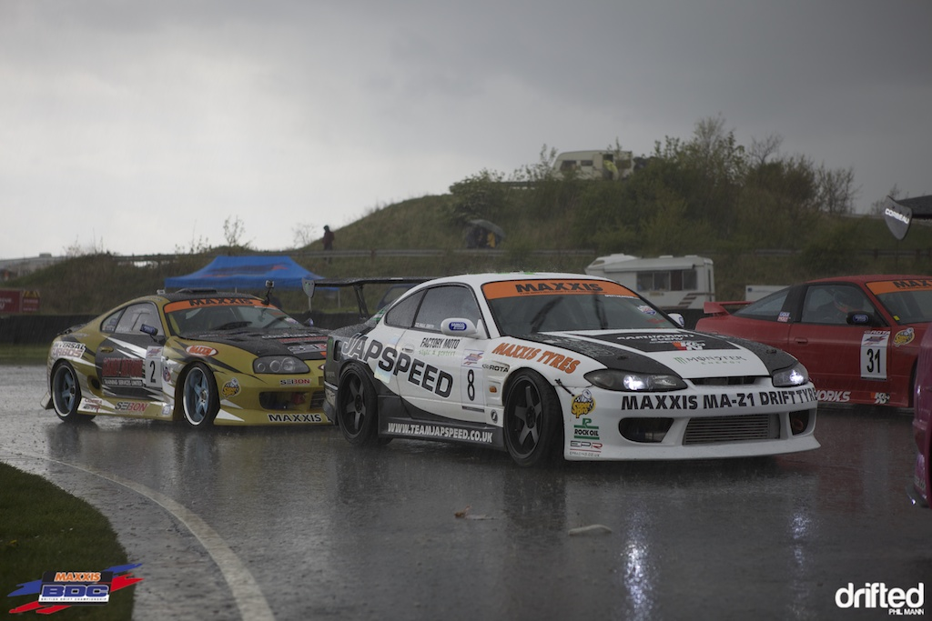 A very wet Paul Smith and Mark Luney at BDC Teesside
