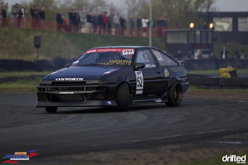 Brian Egan in his Honda powered Toyota at BDC Teesside