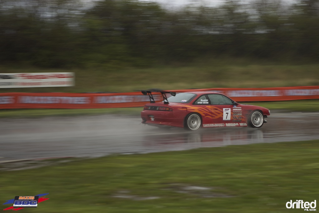 A very wet Steve Moore at BDC Teesside