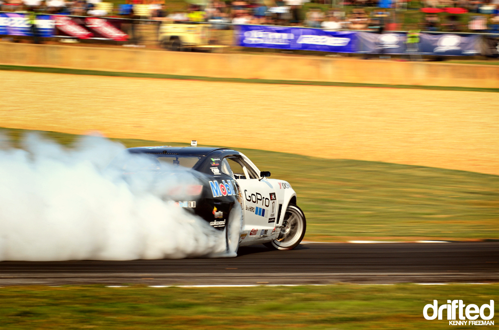 Tyler McQuarrie drift in GoPro Chevrolet Camaro