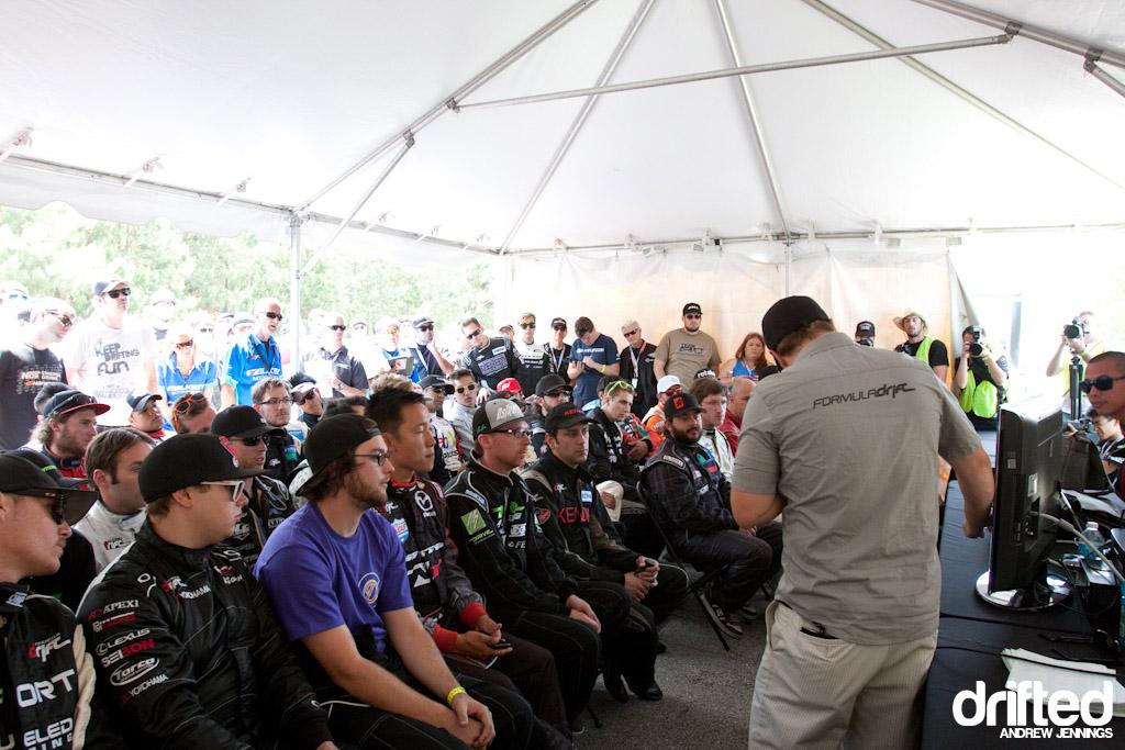 Formula D Road Atlanta 2012 Driver's Meeting