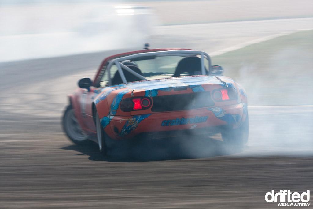 Danny George drifts his Mazda Miata
