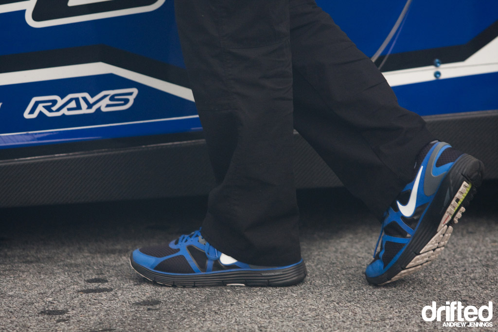 Greddy Racing Scion team footwear detail