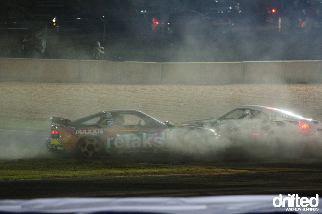 Ryan Tuerck and Ryan Kado Twin Burnout