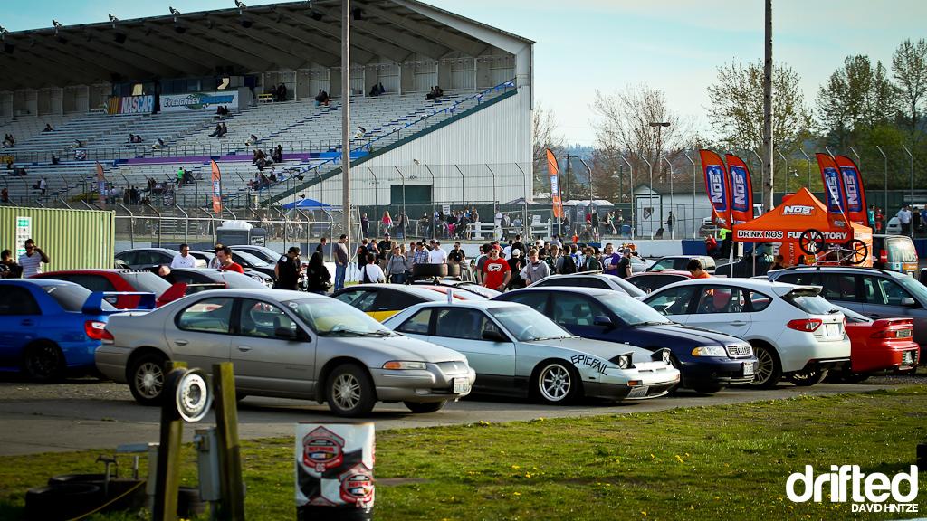 evergreen speedway grandstands pit car show