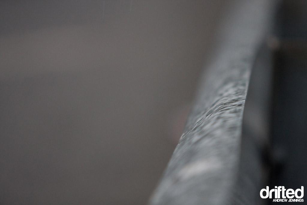 Rain on guardrail - Formula D Wall NJ