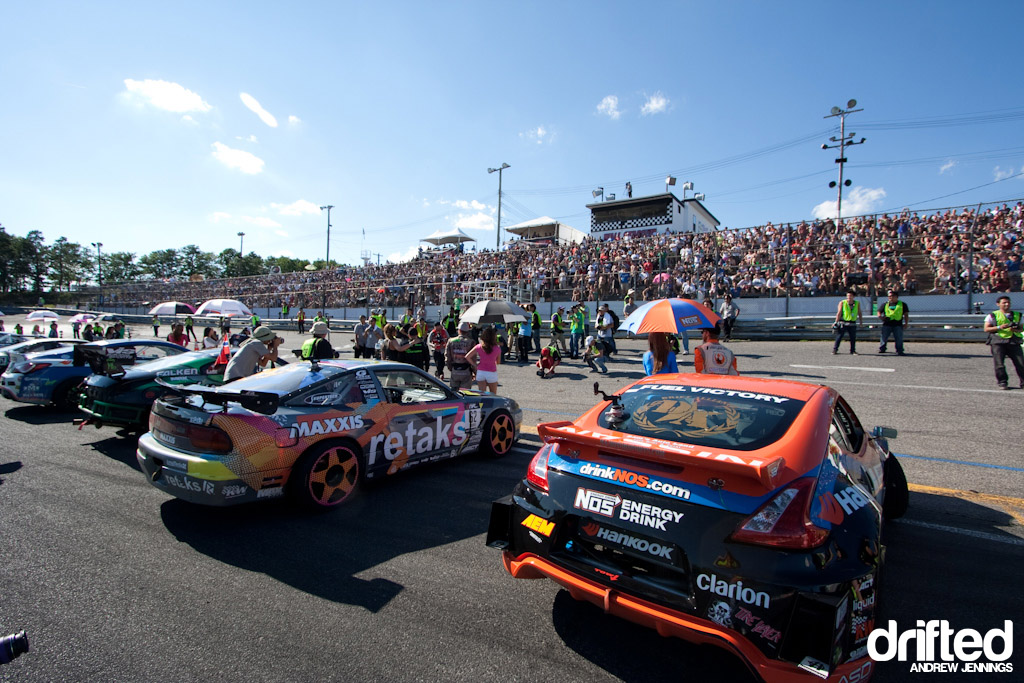 Opening Ceremony for Formula D Wall NJ