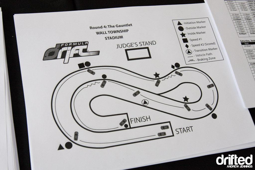 Track Map of Formula D Wall, NJ 2012
