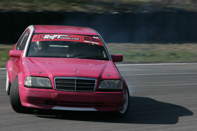mercedes drifting