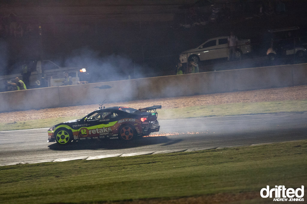 Ryan Tuerck flat rear tire FD Atlanta
