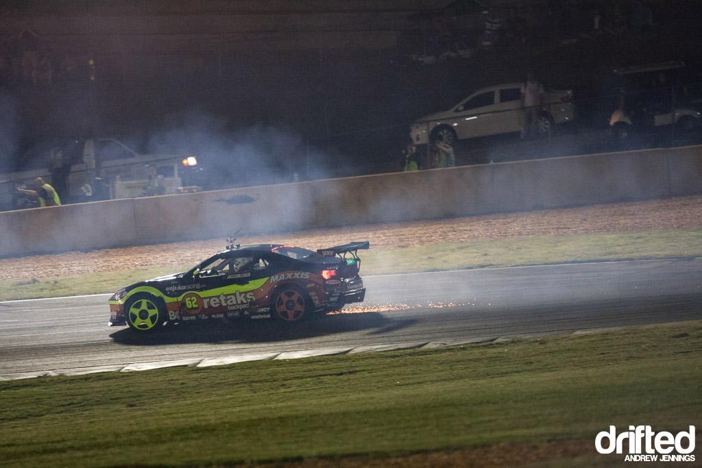 Ryan Tuerck flat rear tire FD Atlanta