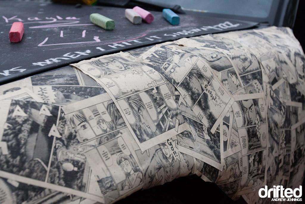 Initial D paper mache