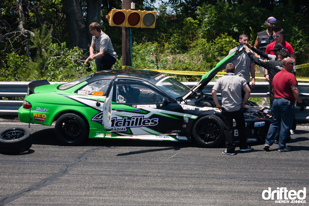 Robbie Nishida wall crash - Formula D Wall NJ