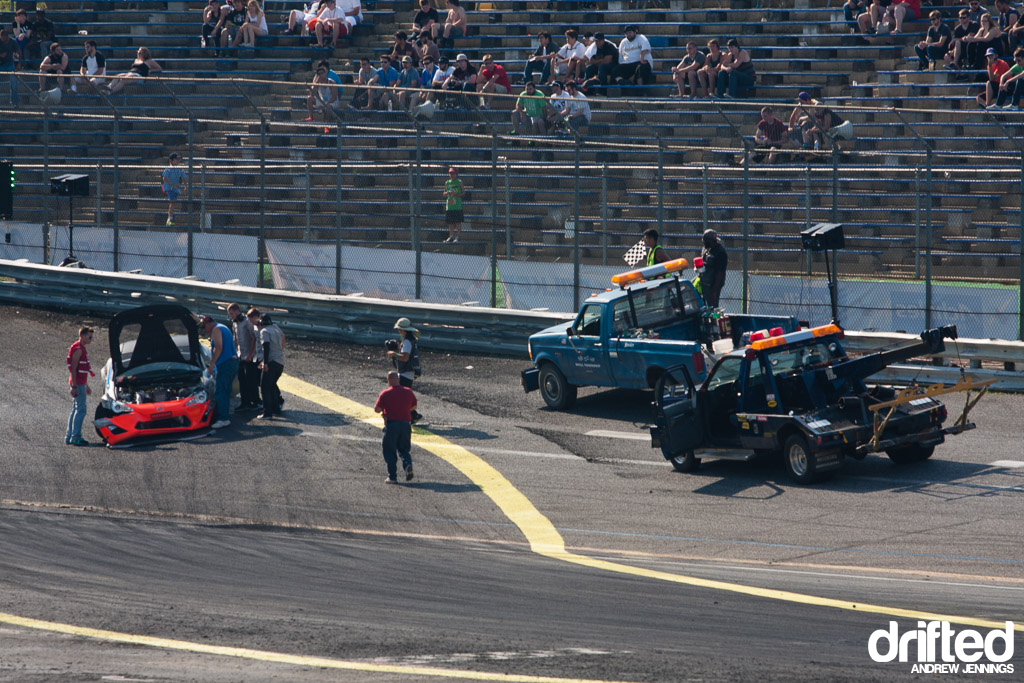 Tony Angelo crash Formula D Wall NJ