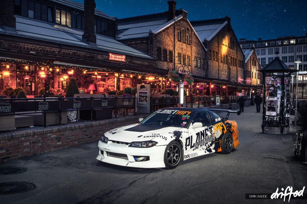 Drift car at Solsiden