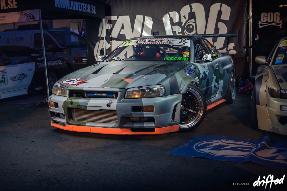 FailCrew Nissan Skyline R34 at Gatebil Rudskogen 2014