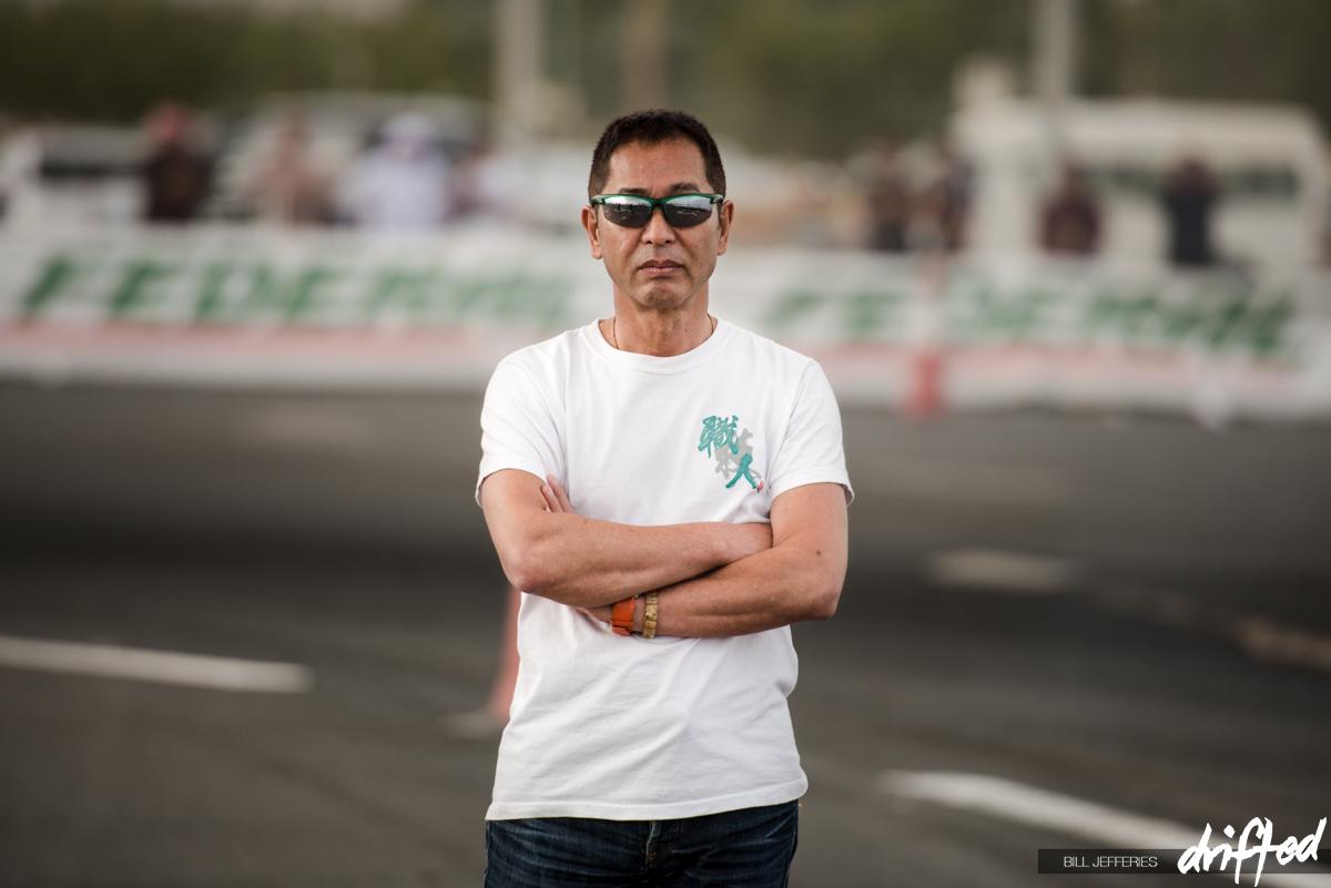 Keiichi Tsuchiya ready for action