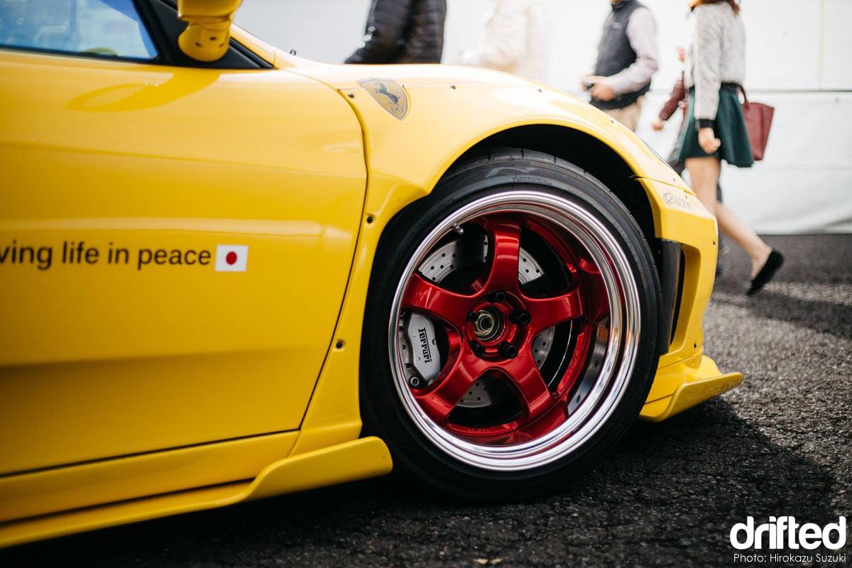 Arios X Liberty Walk Ferrari F360 Modena drift car WORK Meister S1 details