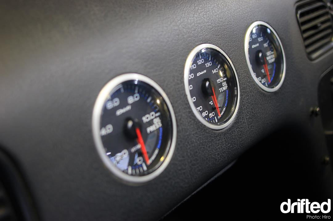 nissan 180sx jdm interior defi gauges