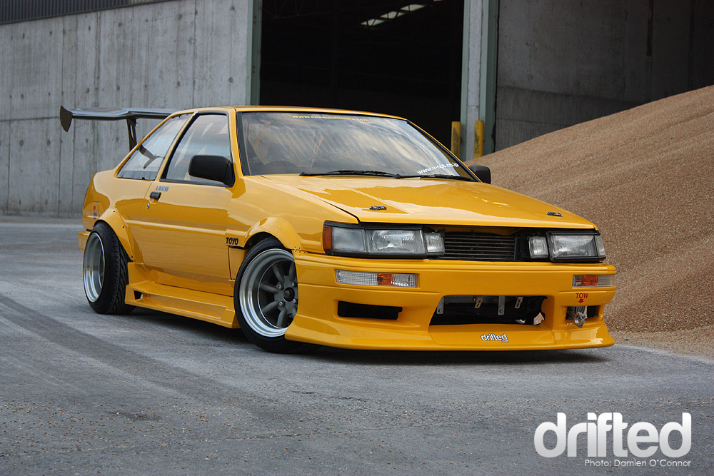 ae85 booted levin drift car