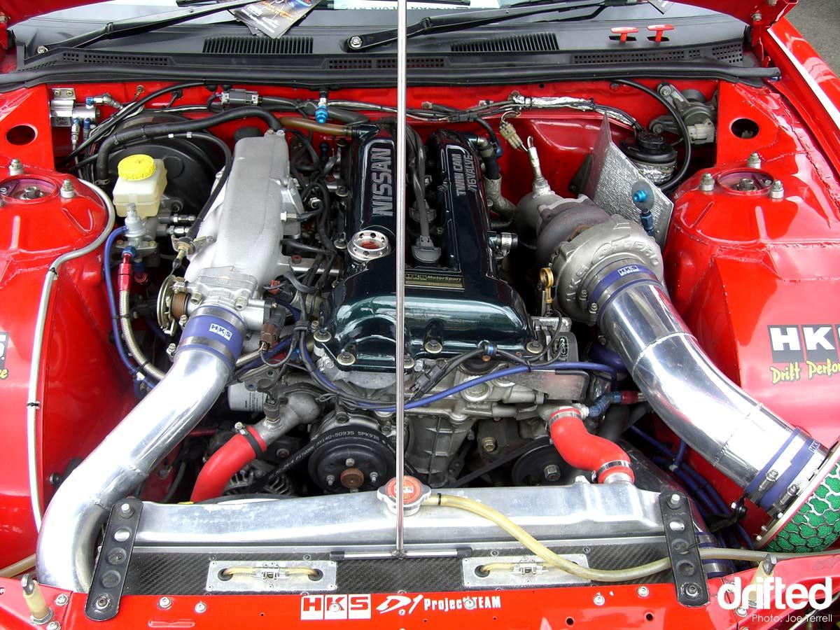 tuned sr20det engine bay silvia s15