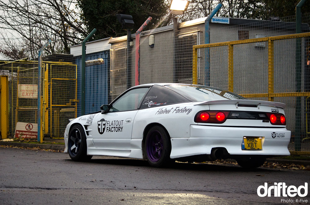 Nissan 180sx parked
