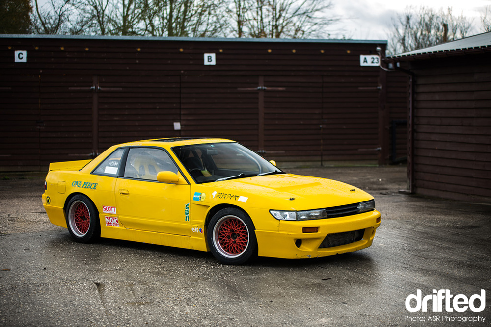 yellow silvia ps13 rocket bunny