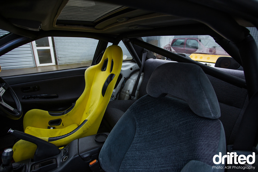 yellow silvia ps13 bucket seat