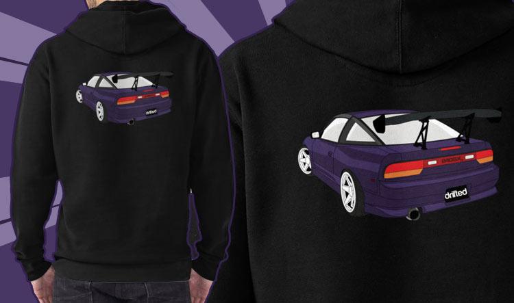 240sx hoodie detailing