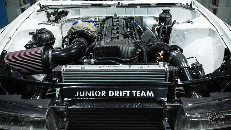 2jz-silvia-engine-bay