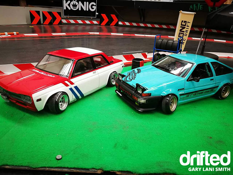 rc drift car ae86 with skyline
