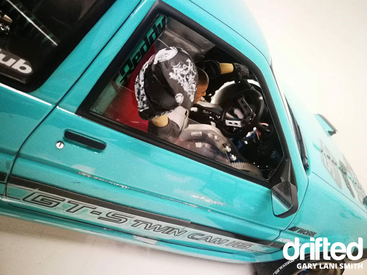 rc drift car ae86 driver helmet