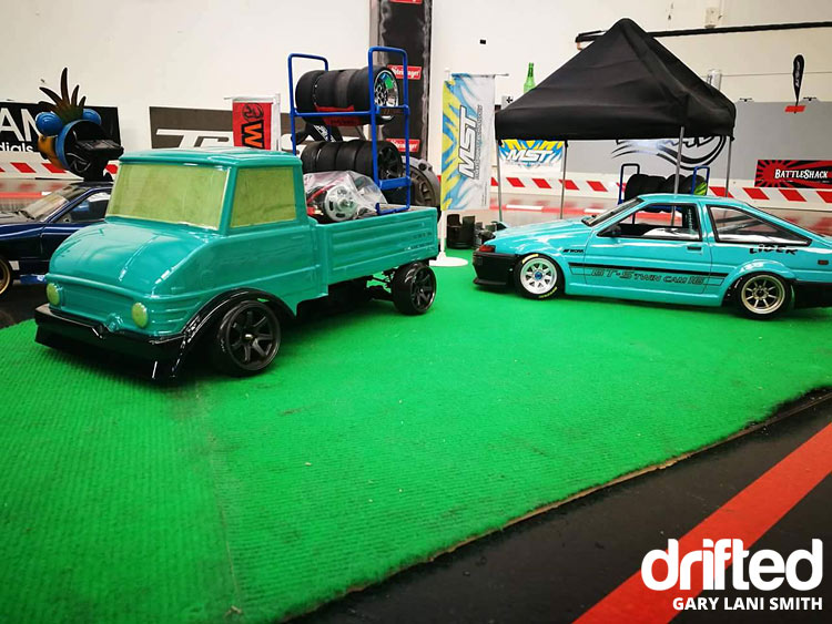 rc drift car ae86 with truck