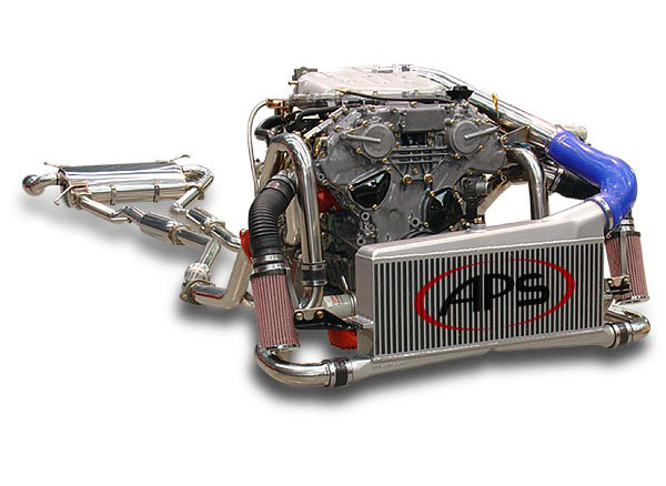 aps nissan twin setup 350z turbo kit