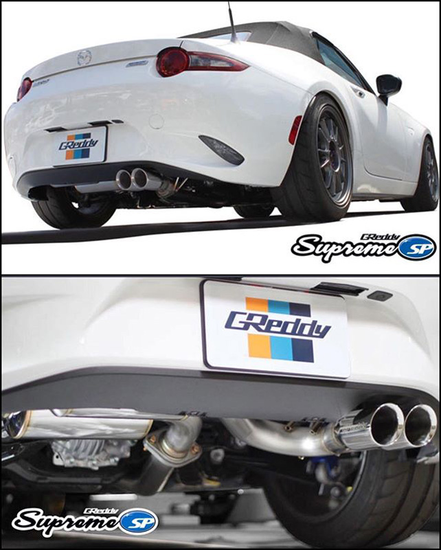 greddy supreme exhaust system nd miata