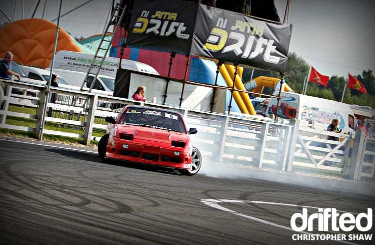 nissan 180sx s13 drifting front
