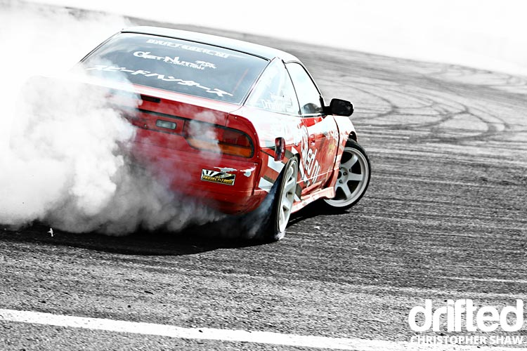 nissan 180sx s13 drifting rear far